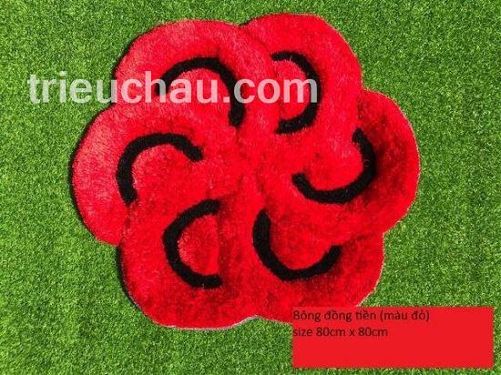 Thảm lau chân hình hoa đồng tiền