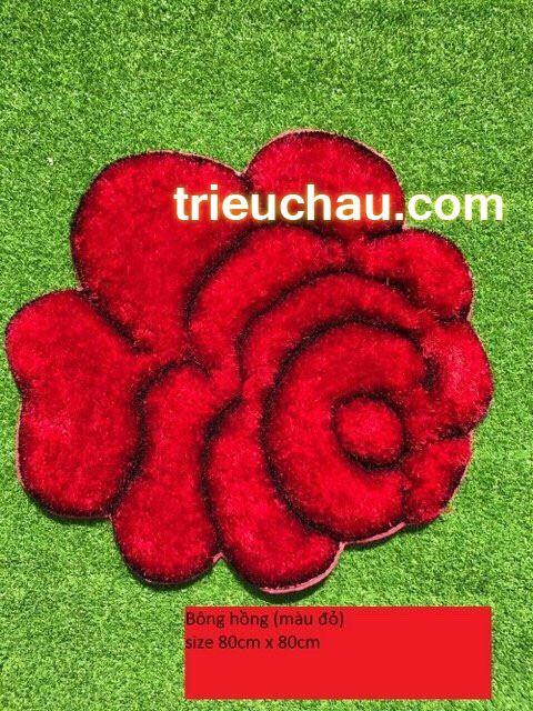 Thảm lau chân hình hoa hồng