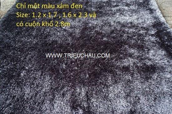 Thảm sofa chỉ cao cấp màu xám đen