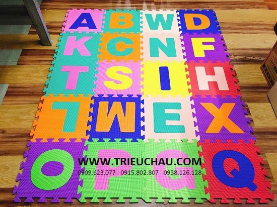 Thảm xốp 30 × 30 cm âu lạc tranh ghép