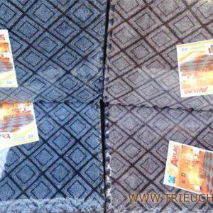 Thảm xốp 60 × 60 cm mặt nỉ hoa văn âu lạc